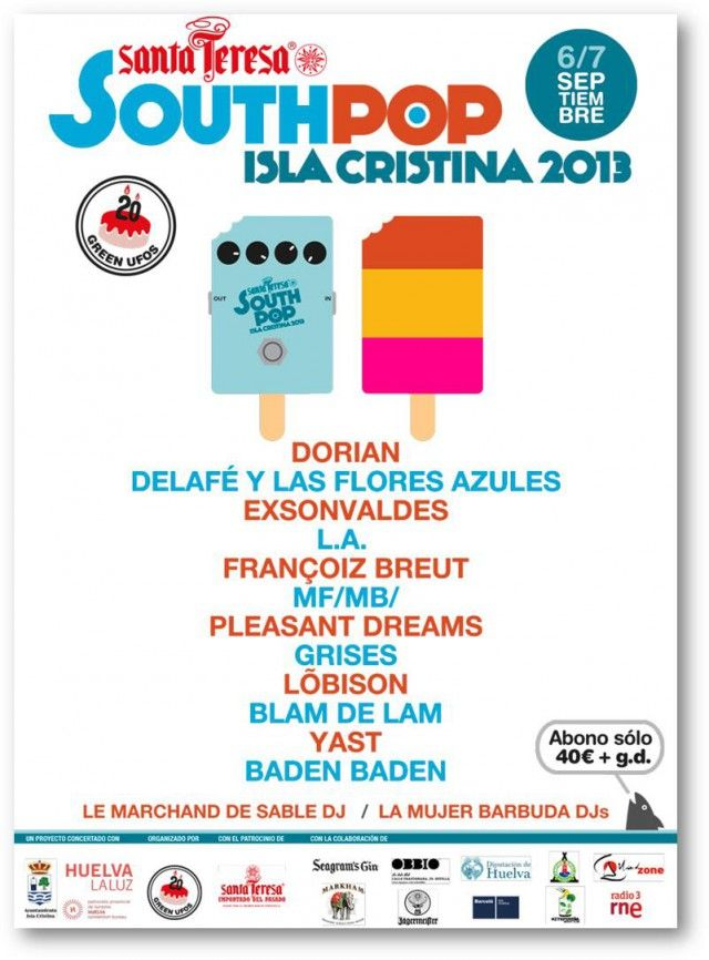 cartel South Pop Isla Cristina 2013