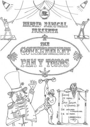 cartel Pan y Toro + The Government Madrid Radical