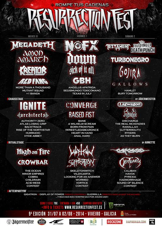 cartel por dias Resurrection Fest