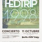 cartel concierto solidario Hedtrip Barcelona