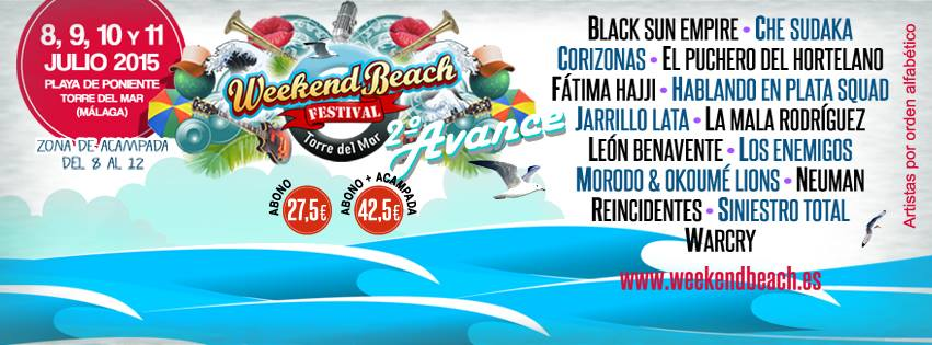 segunda tanda Weekend Beach 2015