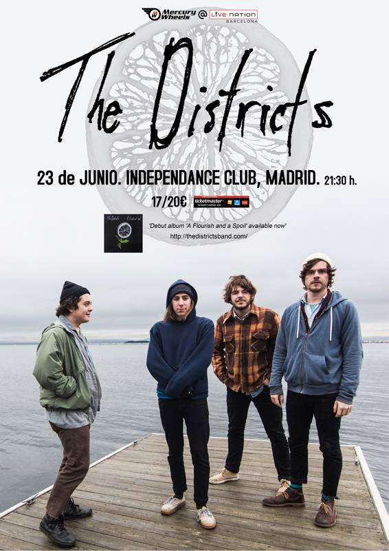 cartel The Districts en Madrid