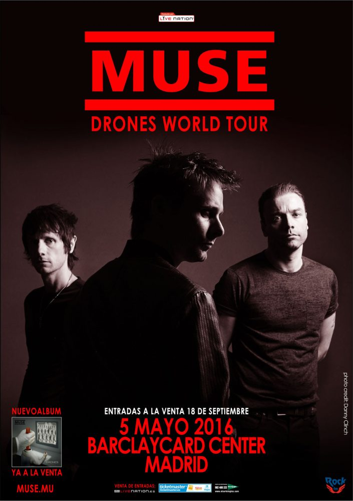 cartel Muse Madrid 2016