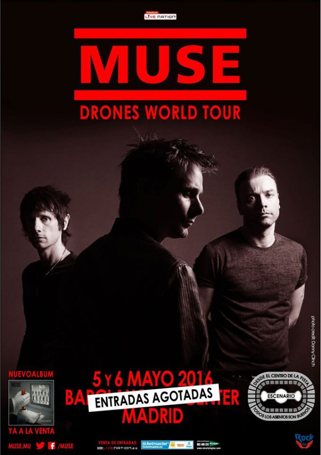 cartel gira MUSE madrid