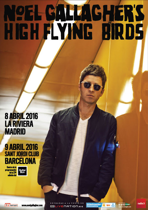 cartel Noel Gallagher en España