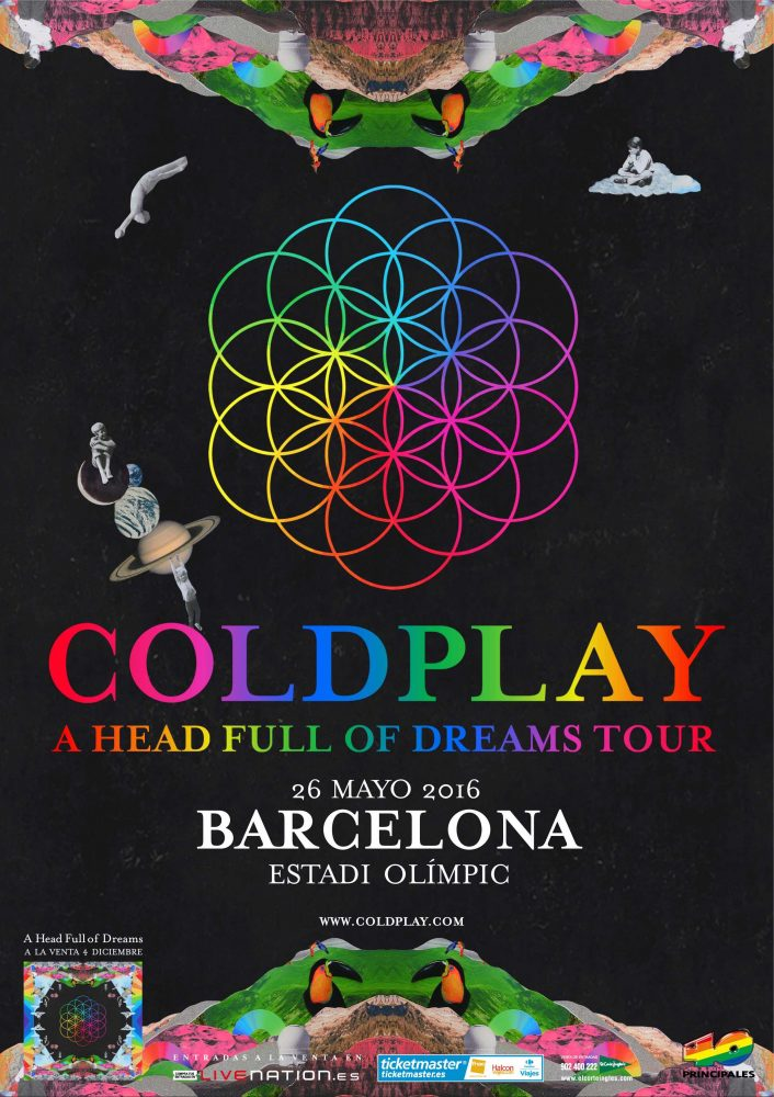 cartel coldplay barcelona 2016