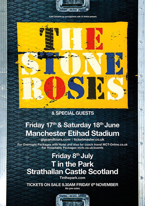cartel reunión The Stone Roses 2016