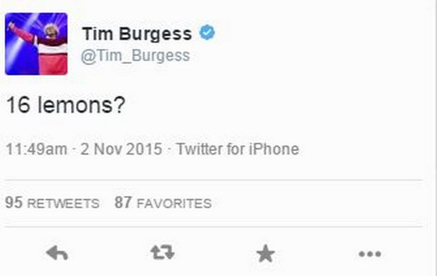 tweet Tim Burgess vuelta The Stone Roses