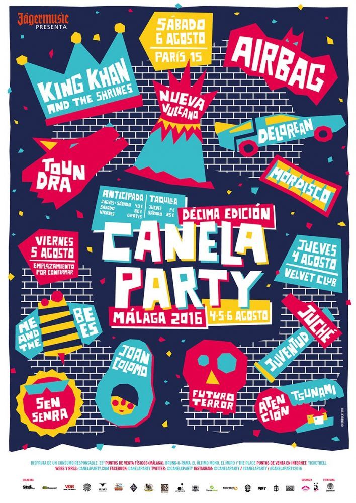 Cartel completo del Canela Party