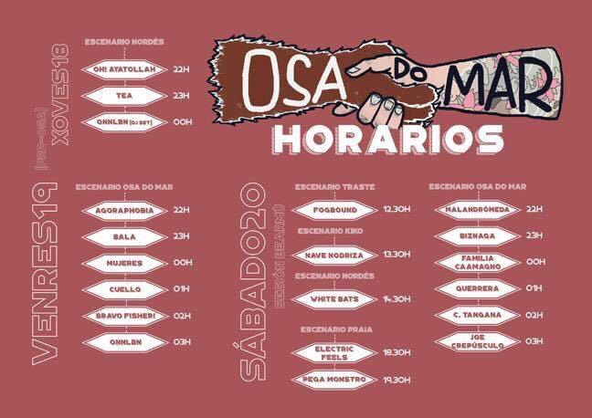 horarios osa do mar 2016