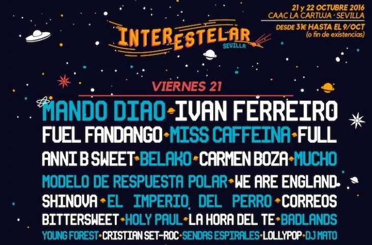 Interestelar Sevilla cierra su cartel