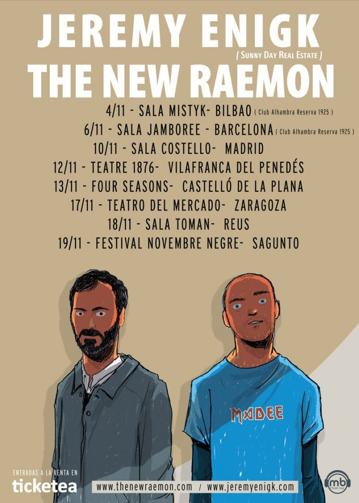 cartel Jeremy Enigk y The New Raemon