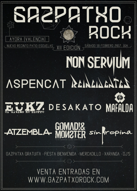Cartel actual del XII Gazpatxo Rock