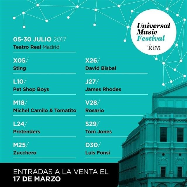 Universal Music Festival contará con Sting y Pet Shop Boys