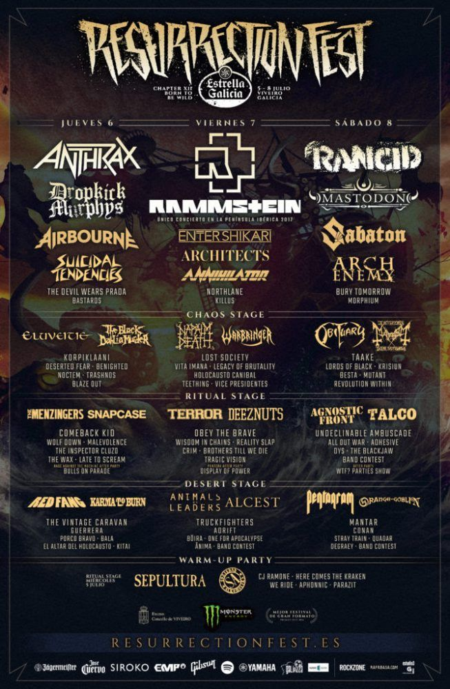 Cartel completo del Resurrection Fest 2017