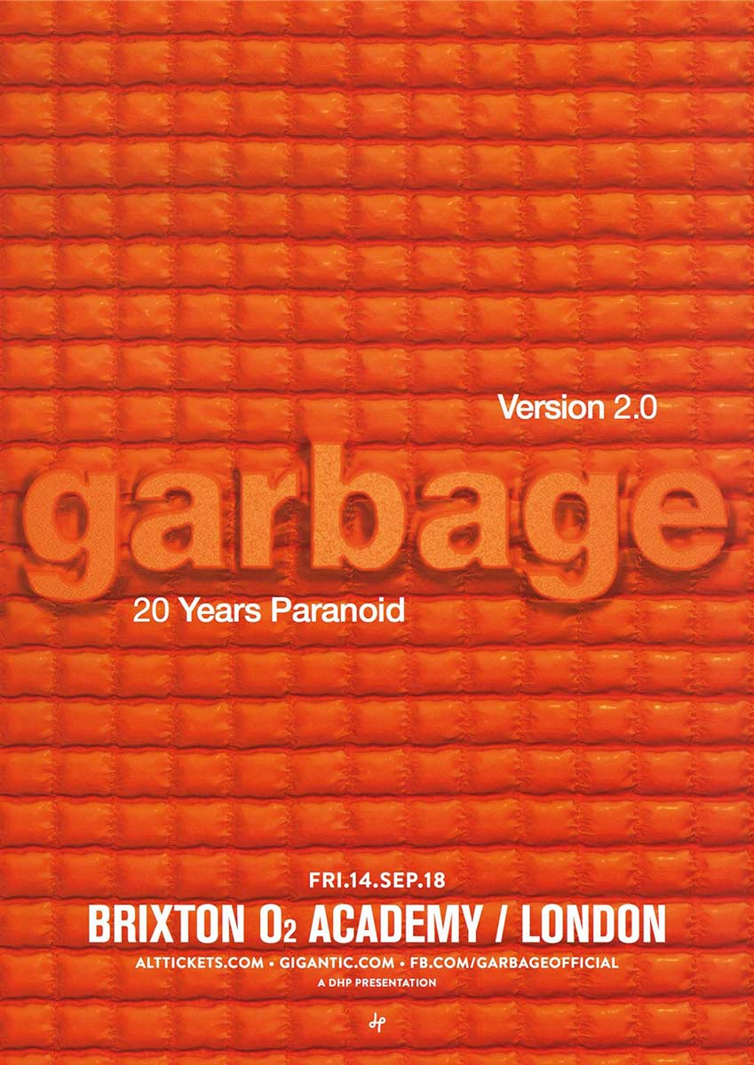 Garbage celebrarán el 20 aniversario de Version 2.0