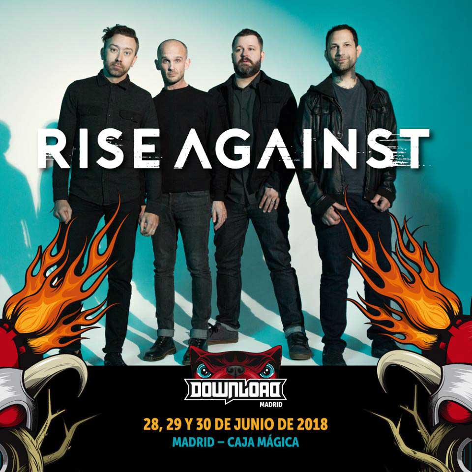 Rise Against se suman al Download 2018