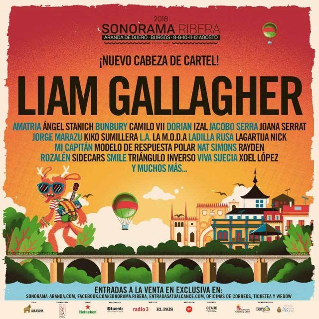 Liam Gallagher en el Sonorama Ribera 2018