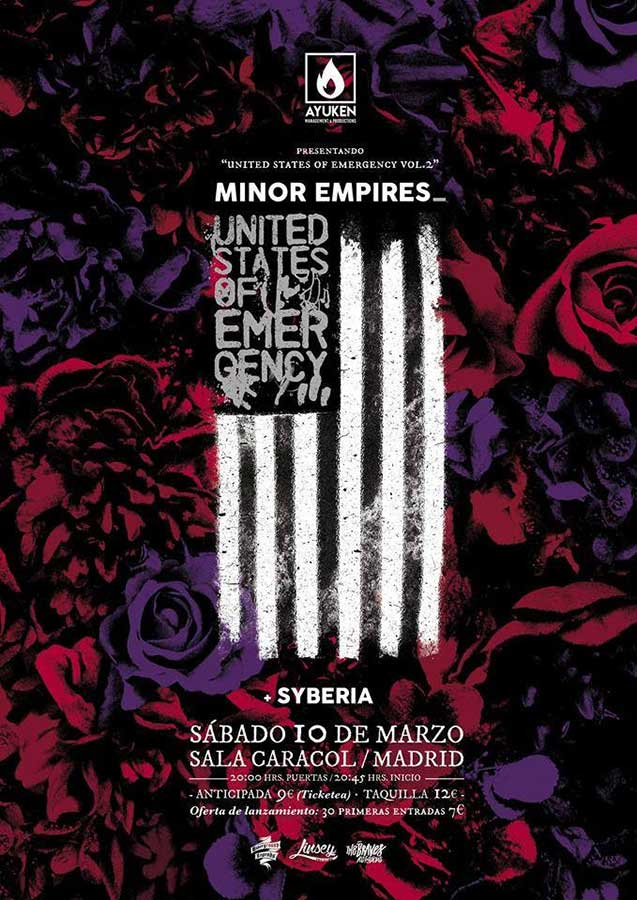 Minor Empires presentan United States of Emergency Vol. 2