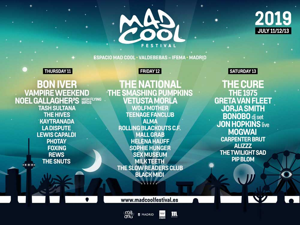El Mad Cool 2019 anuncia mejoras y confirma a The Smashing Pumpkins y Noel Gallagher