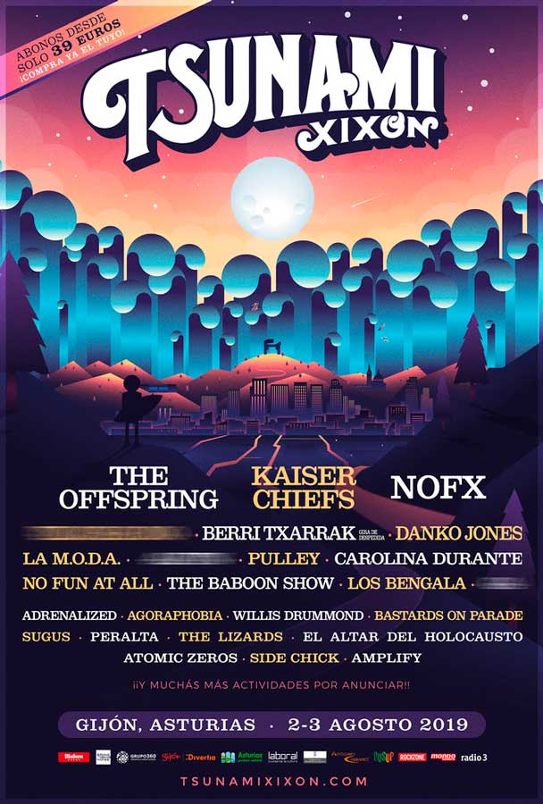 El Tsunami Xixón 2019 confirma a The Offspring, NOFX y Kaiser Chiefs