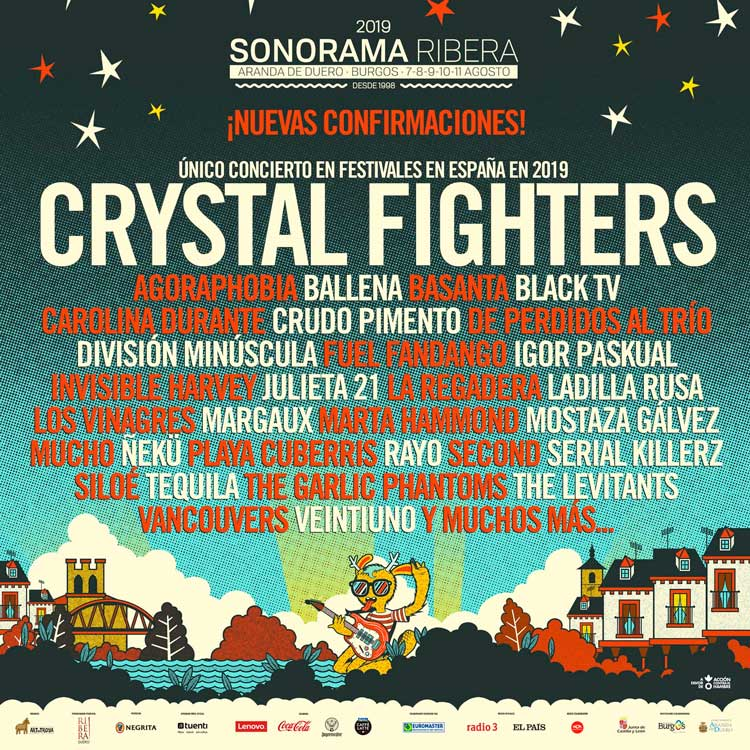 Crystal Fighters estarán en el Sonorama Ribera 2019