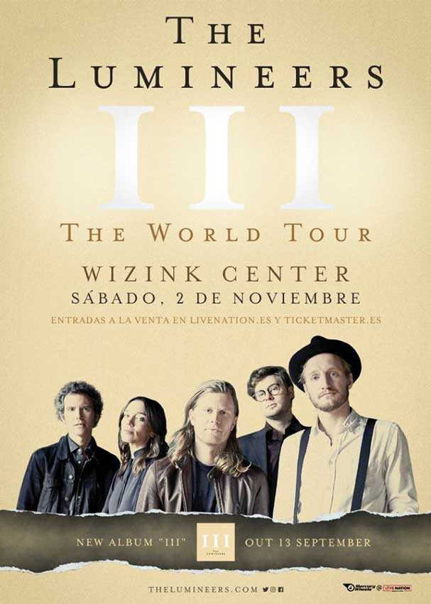 The Lumineers en Madrid noviembre 2019