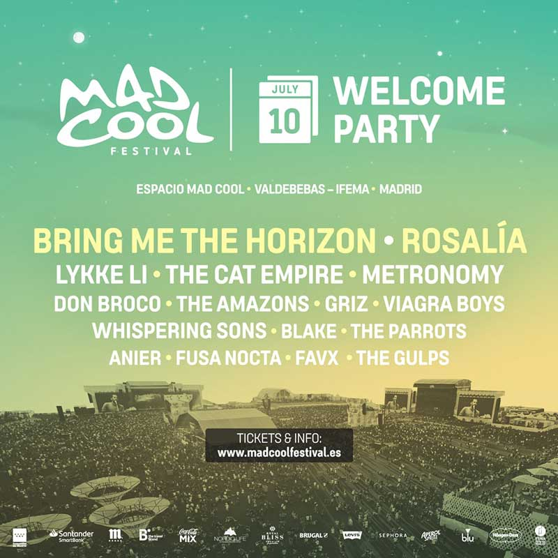 Horarios Welcome Party Mad Cool 2019