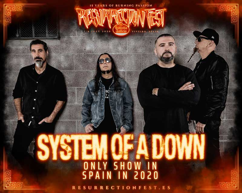 System of a Down encabezarán el Resurrection Fest 2020