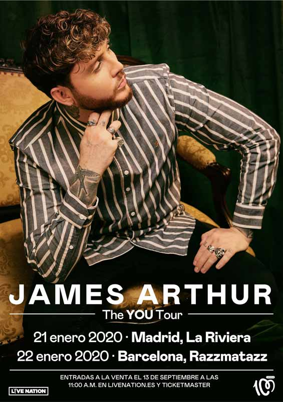 Conciertos de James Arthur en España The YOU Tour