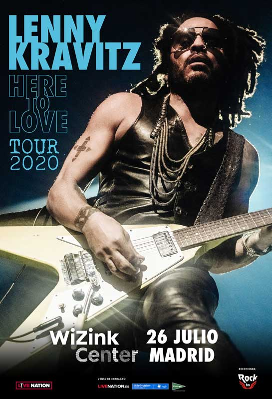 Cartel de Lenny Kravitz en Madrid