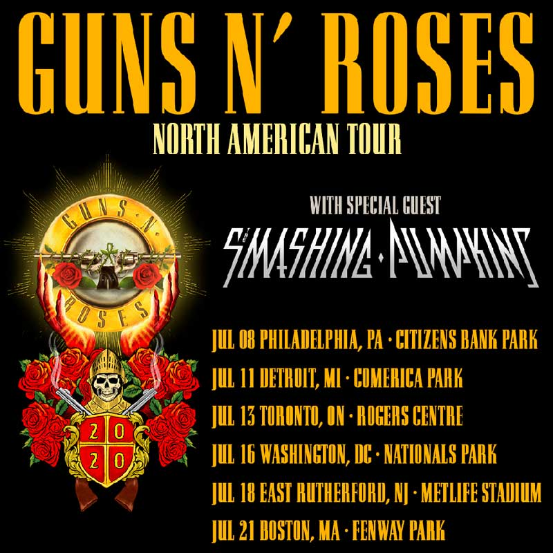 Guns N' Roses The Smashing Pumpkins saldrán de gira juntos