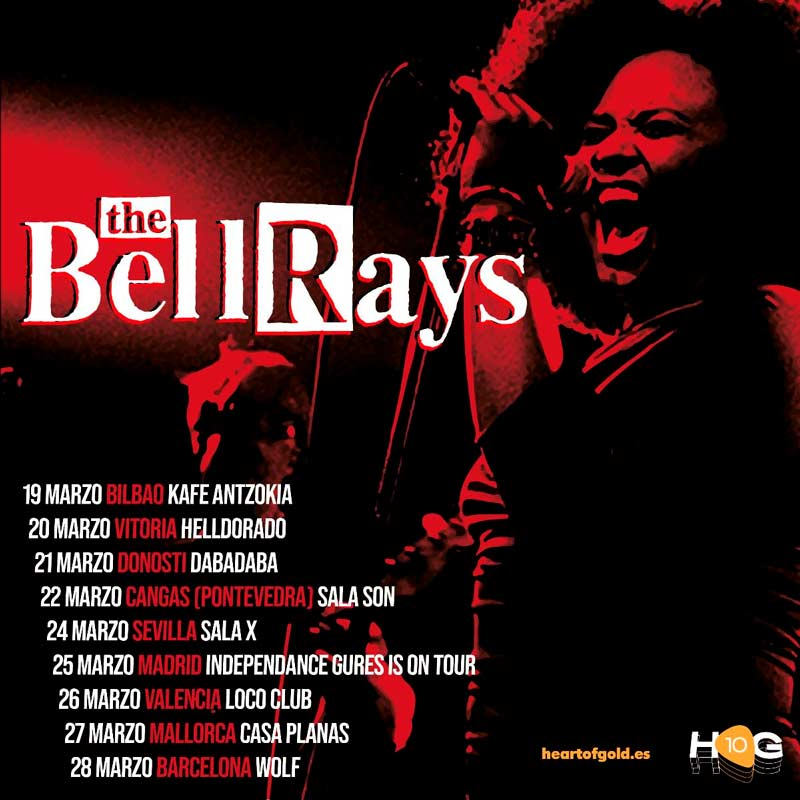 Gira de The BellRays en España